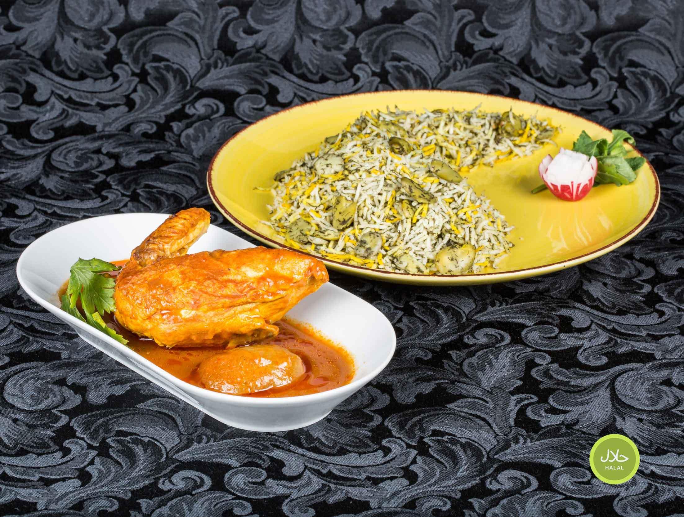 Baghali polo Avec poulet