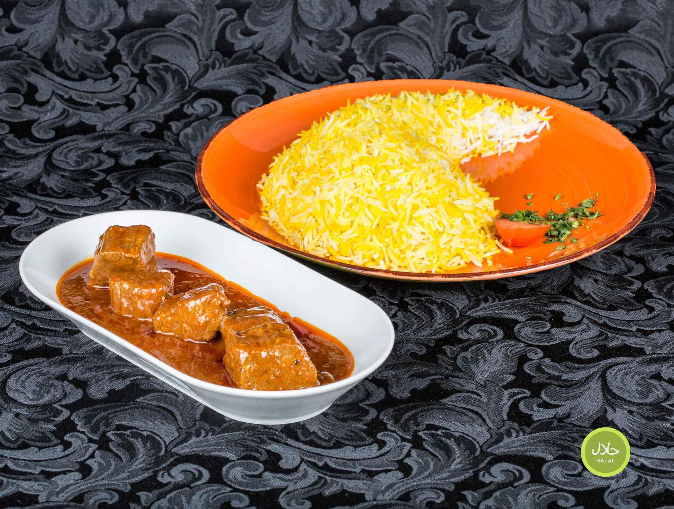 Riz Safrané • Avec bœuf
